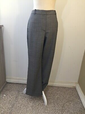 black and white checked ladies women's size 10 wool blend slacks by Talbot pants