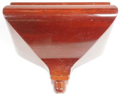 Solid Mahogany Wall Bracket For Small Bracket Clock or Carriage Clock Bracket