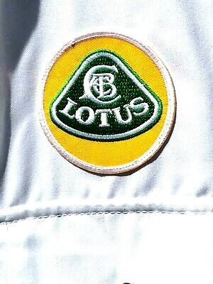 """Rare Fine Goodwood Revival Classic Vintage Style Lotus Badged Overalls 54"""" Chest"""