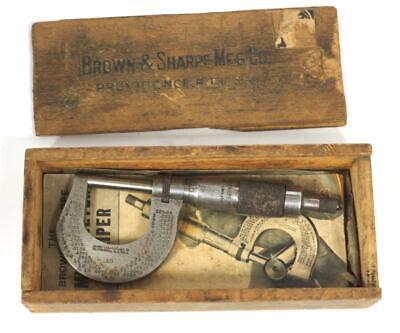 The Brown & Sharpe Meg Co Micrometer Caliper Lathe Clockmakers Tool