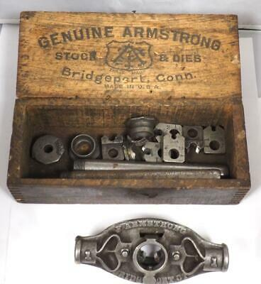 Genuine Armstrong Stock & Die Tool and Box Clockmakers Tool