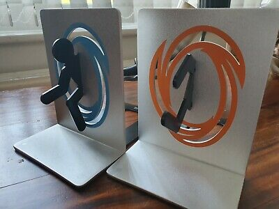 Portal Metal Book Ends From Think Geek