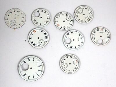 Collection Of White Dials for Pocket Watches or Wristwatches Collection Of Dials