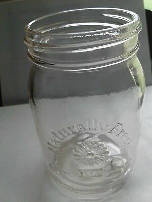 Ball Naturally Fresh Glass Pint Size Mason Style Jar Glass vintage pre-owned