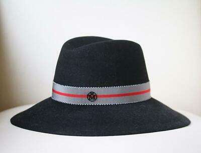 Maison Michel Kate Grosgrain Trimmed Rabbit Felt Fedora Medium