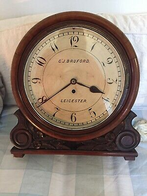 Antique G. J . Burford ( Leicester ) Wall Clock ( Chapel )