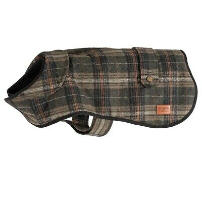 Ancol Heritage Green Tartan Check Dog Coat Extra Warm Fleece Line & Harness Hole