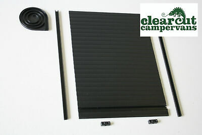 Campervan Tambour Roller Door Kit, Black 300mm x 500mm, Discounted Seconds