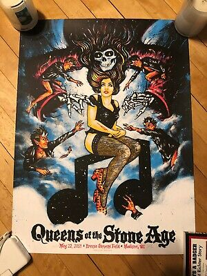 Queens Of The Stone Age Concert Poster - Madison, WI 5/22/18