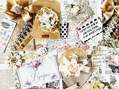 Junk Journal Supplies, 60+ Vintage Book Pages & Vintage Themed Tags, Pictures