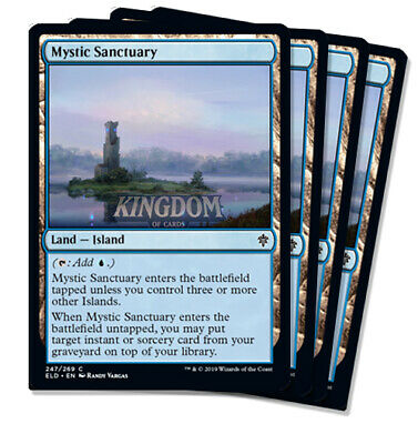 4x Mystic Sanctuary - Throne of Eldraine - NM - Playset - English - MTG