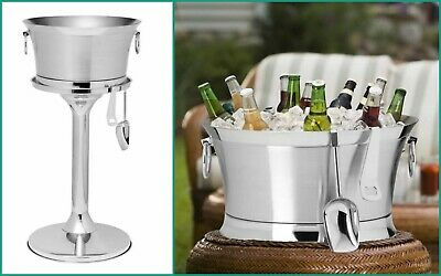Wine Stand Beverage Ice Bucket Multi-Bottle Stainless Steel Table-side Party
