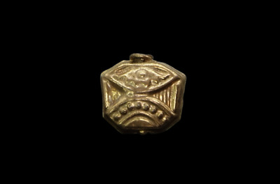 Viking, Medieval Gold Bead with Symbols 900-1100 AD