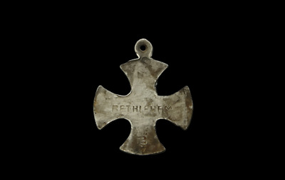 Medieval Period Silver Undated Cross with Inscription