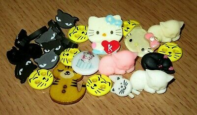 Lot Hello Kitty Cat Face Shank Sew Craft Buttons CLOSE OUT SALE!!