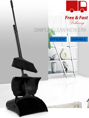 Strong Long Handled Dustpan And Brush Set Floor Sweeping Broom Lobby Dust Pan