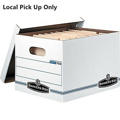 Bankers Box Stor/File Letter/Legal Size 15 x 12 x 10 Storage Boxes -10PK (703)