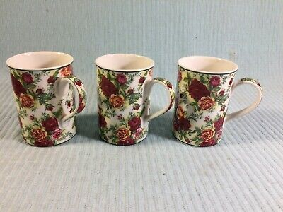 (3) Royal Albert Old Country Roses Afternoon Tea II Mugs PERFECT CONDITION