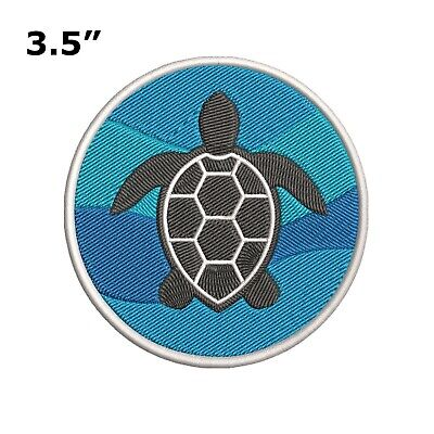Sea Turtle Embroidered Patch Iron-On / Sew-On Vacation Souvenir Travel Explore