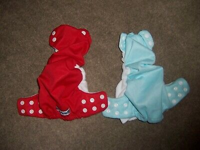 2 swaddlebees size small Pocket cloth diaper lot no doublers