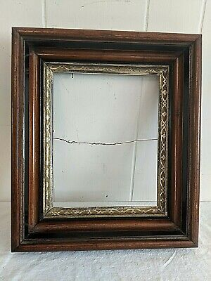 """Gorgeous 14"""" x 12"""" Antique Walnut Deep Well Wood Picture Frame Fits 8"""" by 10"""""""