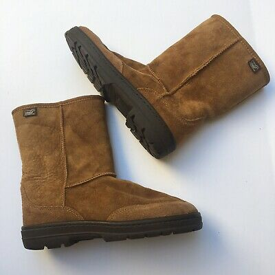Australian Boot Co. Classic Shearling Boots Leather Sheep Fur Lined Unisex L8/M7