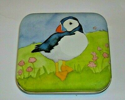 Emma Ball Puffin Small Hinged Lid Tin, Decorative, Storage, Collectable