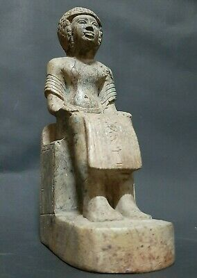Rare ANCIENT EGYPTIAN ANTIQUES Statue Of Egyptian King EGYPT Carved Stone 1810BC