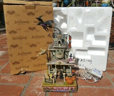 Jim Shore Heartwood Creek Wicked 2008 Haunted House Lighted Motion Sound