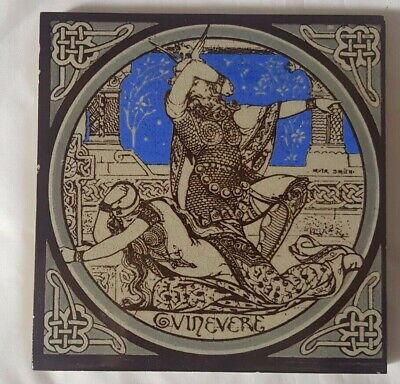 MINTON moyr-smith 'GUINEVERE' ANTIQUE 6 INCH TILE