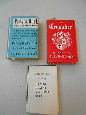 Rare Vintage E Fairchild Magic Magician Playing Card Trick Presto Deck Tax Stamp