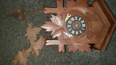 Vintage  Black Forest Cuckoo Clock West Germany For Parts Or Repairs 4