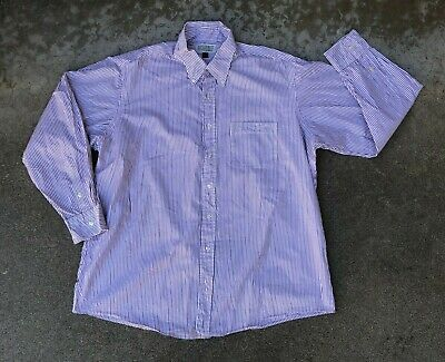 Investment Collection Tom James Men's VTG 90s Striped Dress Shirt | 17 1/2-35