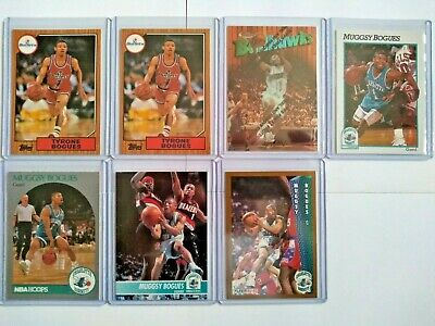 Tyrone Muggsy Bogues RC Insert Lot Fleer Hoops Topps Finest Charlotte Hornets Le