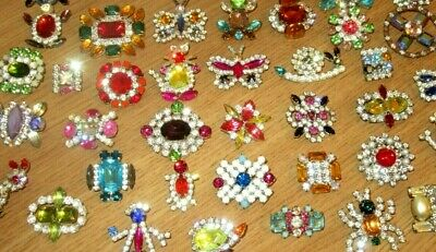 Lot Rhinestone Turtle Snail Cat Rabbit Spider Butterfly Girl Buttons CLOSE OUT!