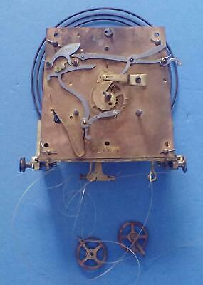 Antique German Weight Driven Regulator Wall Clock Movement Assembly For Parts
