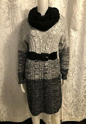 Old Navy Gray & Black Sweater Dress Womens Size Large