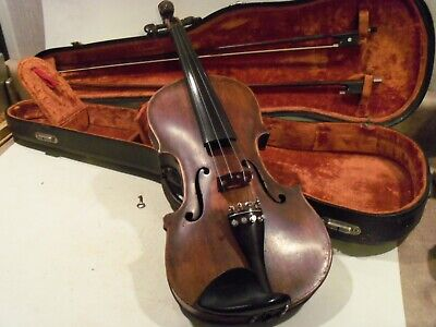 Very Nice Old Vintage Antique Violin,Full Size With Case & 2 Bows