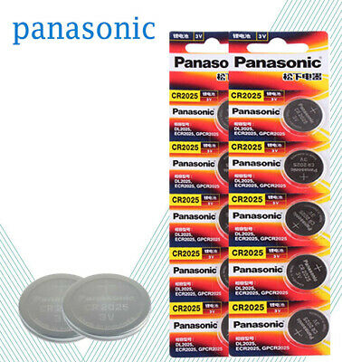 10 PANASONIC CR2025 CR 2025 3v Lithium Battery Expiration date 2028
