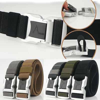 "1.5"" Military Style Elastic Tactical Belt Aluminum Alloy Buckle Trousers Belts"