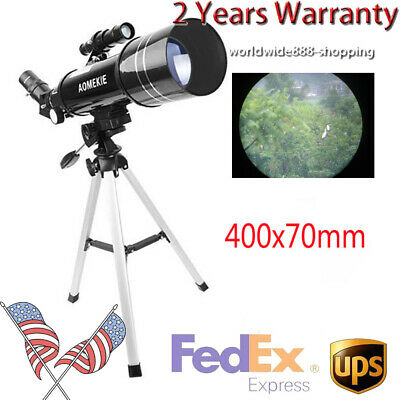 40070 70mm 66X Refractive Astronomical Telescope with Tripod Eyepiece Kids Gift