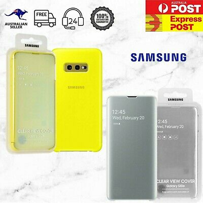 Original Genuine Samsung Galaxy S10 S10e S10+ Clear View Cover Flip Case