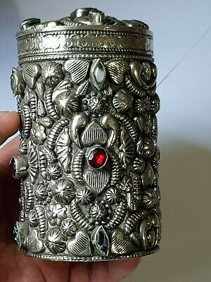 Extremely Rare Late Medieval Silver Box/Rare Stones.fantastic Detail.410Gr.135M