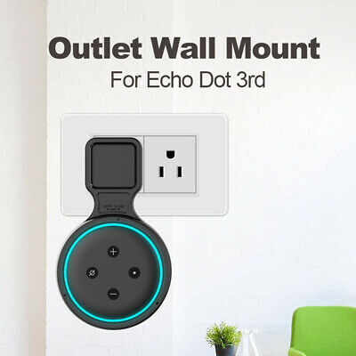 Outlet Wall Mount Hanger Holder Stand Socket Echo Dot 3rd Generation for Amazon