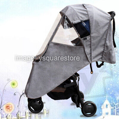Universal Weather Dust Wind Shield Waterproof Baby Stroller Clear Rain Coat YoYo
