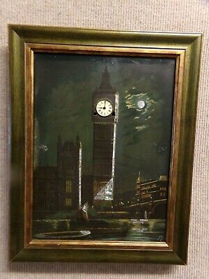 Antique Victorian musical Wall Clock Picture 'Big Ben