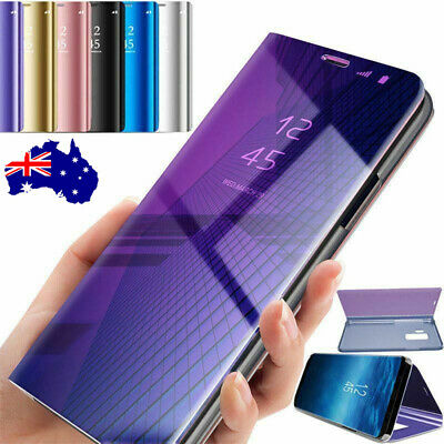 For Apple iPhone 11 Pro Max Luxury Mirror Clear View Flip Cover Stand Phone Case