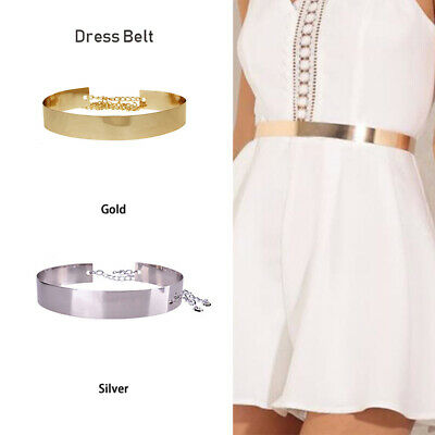 Waistband Plate Hot Chains Waist Vogue Metal Belt Mirror Wide Gold Band Lady UK