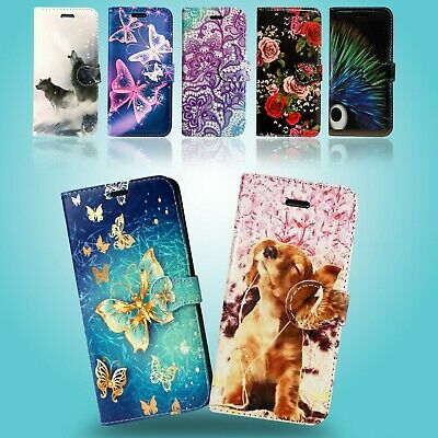 ***For Samsung Galaxy S10E Book Wallet Card Slots Protect Phone Fone Case Cover
