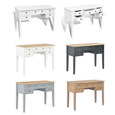 Writing Desk with 5 Drawers Home Console Table Office Study Computer Work Table